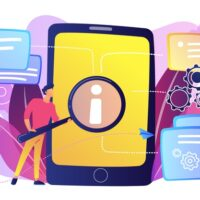 user-looking-information-tablet-with-magnifier-illustration_335657-322