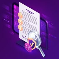website-template-digital-contract-electronic-signature-isometric-landing-page-e-signature-document-pc-screen-with-fingerprint-shield-magnifier_107791-3782